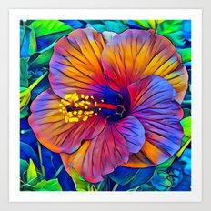 Colorful Hibiscus Art Print