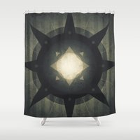 hamlet Shower Curtains featuring Oberon - Hamlet Crater by Fabled Creative