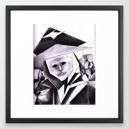 My Sweetheart In Black Framed Art Print