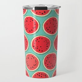 watermelon polka mint Travel Mug