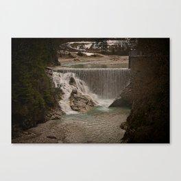 Sava River Waterfall Canvas Print