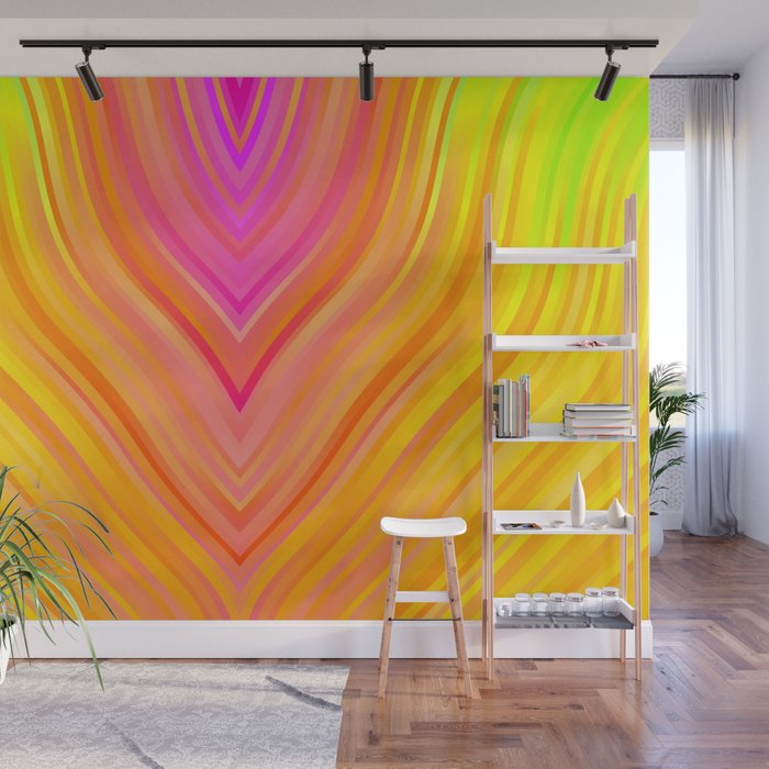 stripes wave pattern 3 stdi Wall Mural