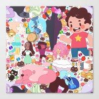 steven universe Canvas Prints featuring Steven Universe by Velvetcat09