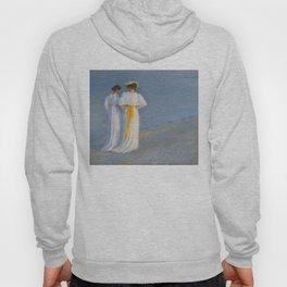 Anna Ancher and Marie Krøyer on the beach - Krøyer Hoody