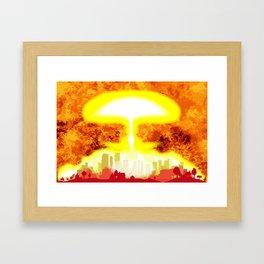 Atomic Bomb Heat Background Framed Art Print