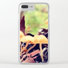 Toadstools in the Rain Clear iPhone Case