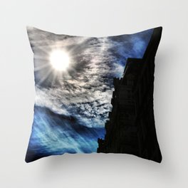 Ice Fire In The City Throw Pillow