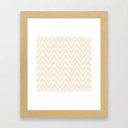 Chevron Wave Bisque Framed Art Print