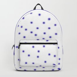 Ethnic dots blue on white Backpack