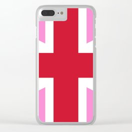 Gay Pink UK Pride Flag Clear iPhone Case