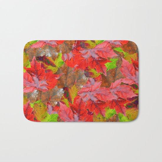 Autumn Fallen Leaves Bath Mat