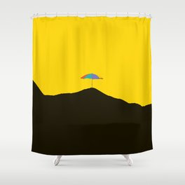orange and black shower curtain.  Finland Shower Curtains Society6