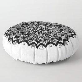 Mandala: detailed and hand-drawn Floor Pillow