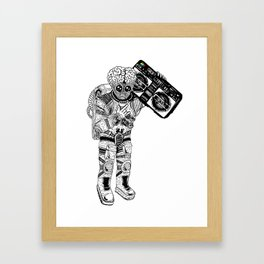 this planet earth in stereo Framed Art Print
