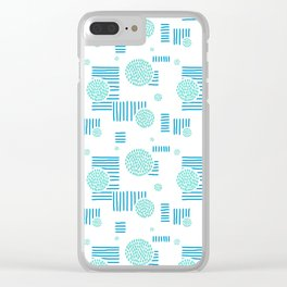 Imperfection in Blue and Turquoise Clear iPhone Case