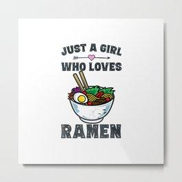 Funny Japanese Ramen Noodles Shirt Girls Anime Lovers Gifts T-Shirt Metal Print