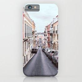 Italian pink street travel photography iPhone Case