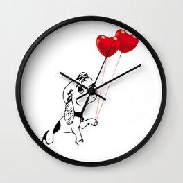 Beagle in love Wall Clock