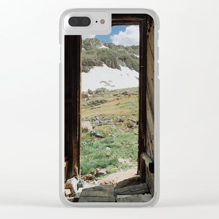 Colorado Mountain Cabin Clear iPhone Case