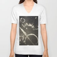 cosmic V-neck T-shirts featuring Cosmic by Evanne Deatherage