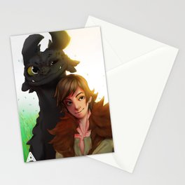 Toothless x Hiccup  Stationery Cards