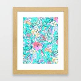 Pretty Pastel Hawaiian Hibiscus Print Framed Art Print