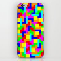 tetris iPhone & iPod Skins featuring Tetris by tonilara
