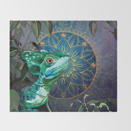 Basilisk Lizard Throw Blanket