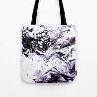 Purple Marble Tote Bag