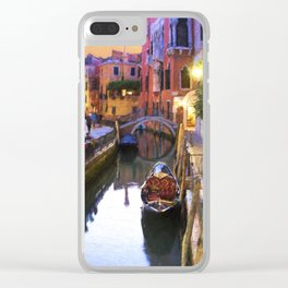 Sunset Alley In Venice Italy Clear iPhone Case