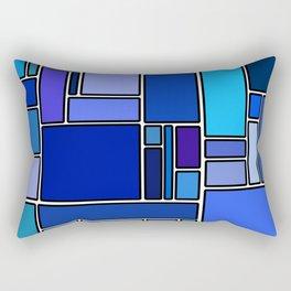 50 shades of blue Rectangular Pillow