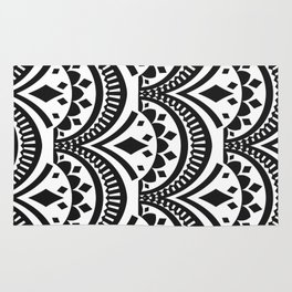 Black and White Deco Print Rug
