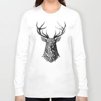 bioworkz Long Sleeve T-shirts featuring Ornate Buck by BIOWORKZ