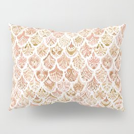 PAISLEY MERMAID Rose Gold Fish Scales Pillow Sham