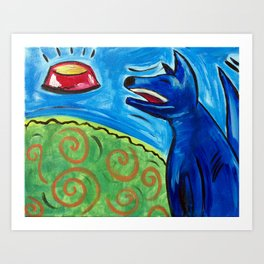 Canine Craving Art Print