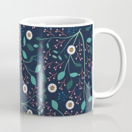 Dense Flora Midnight Coffee Mug