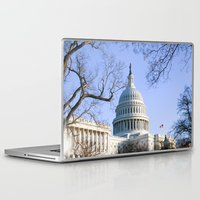 dc Laptop & iPad Skins featuring Capitol- DC by mariavilla