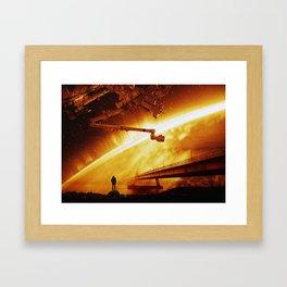 Red Sun Chronicle Framed Art Print