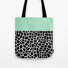 British Mosaic Mint Boarder Tote Bag