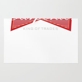 Funny Carpenter King of Trades Tee  Gift Rug