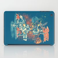 stickers iPad Cases featuring BOUNTY HUNTER by BeastWreck