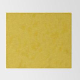 Plain yellow fabric texture Throw Blanket