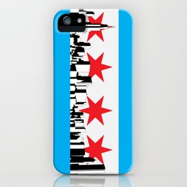 New Chicago Flag iPhone Case