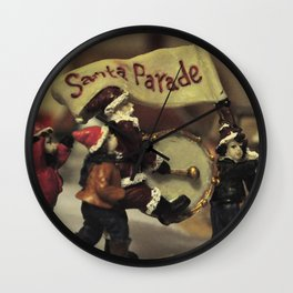 Santa Parade Wall Clock