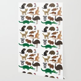 Animals Australia: Echidna Platypus ostrich Emu Tasmanian devil Cockatoo parrot Wombat crocodile Wallpaper