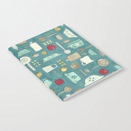 Vintage Kitchen Utensils / Teal Notebook