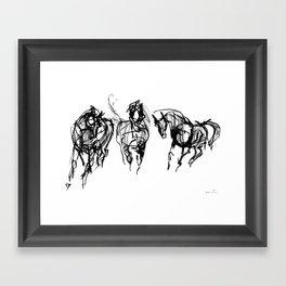Horses (Trio) Framed Art Print