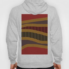ABSTRACT BLACK PIANO KEYS ON RED Hoody