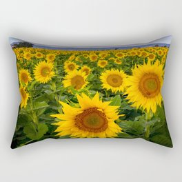 Field of Sunflowers, California Rectangular Pillow