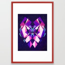 Mirrors - Composition in Pink Framed Art Print